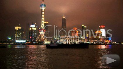 Check out this Pudong River Shanghai City Time-lapse HD Stock Footage Clip. Static shot made at night. Wide shot. 2008-08-29, CHINA.