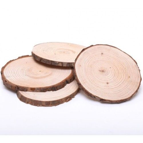 Plain Round Wooden Tree Log Slices / Coasters - Wooden Tree Log Slices - Plain Wooden Boxes & Decoupage Blanks | Craftmill  Paint pictures on it for Mayas friends?