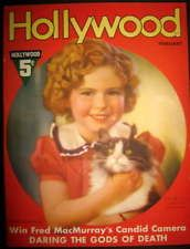 Hollywood Magazine Shirley Temple February 1937 cover