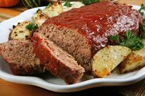 Gluten Free Meatloaf - Replace the two eggs with an additional two ounces of applesauce for a gluten-free, egg-free version.