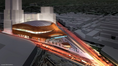 On March 8th, 2010, SHoP's Barclays Center will break ground for construction along Atlantic and Flatbush avenues in Brooklyn, site of one of the busiest interchanges in the city.
