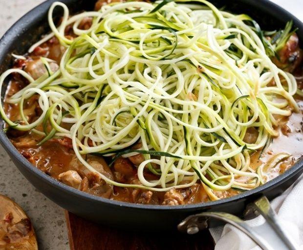 Pármai cukkini spagetti