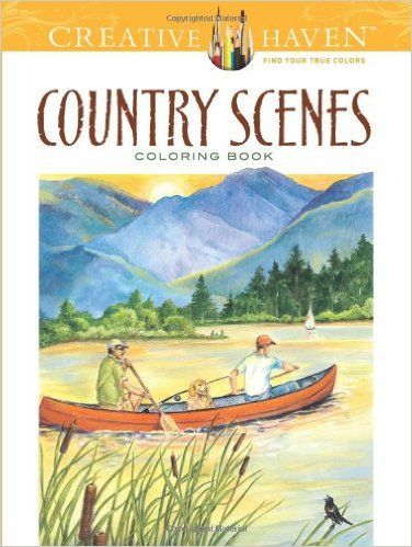 Amazon Creative Haven Country Scenes Coloring Book Books