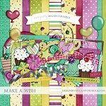 "Free birthday scrapbook kit ""Make a wish"" from Designs by Megan Turnidge"