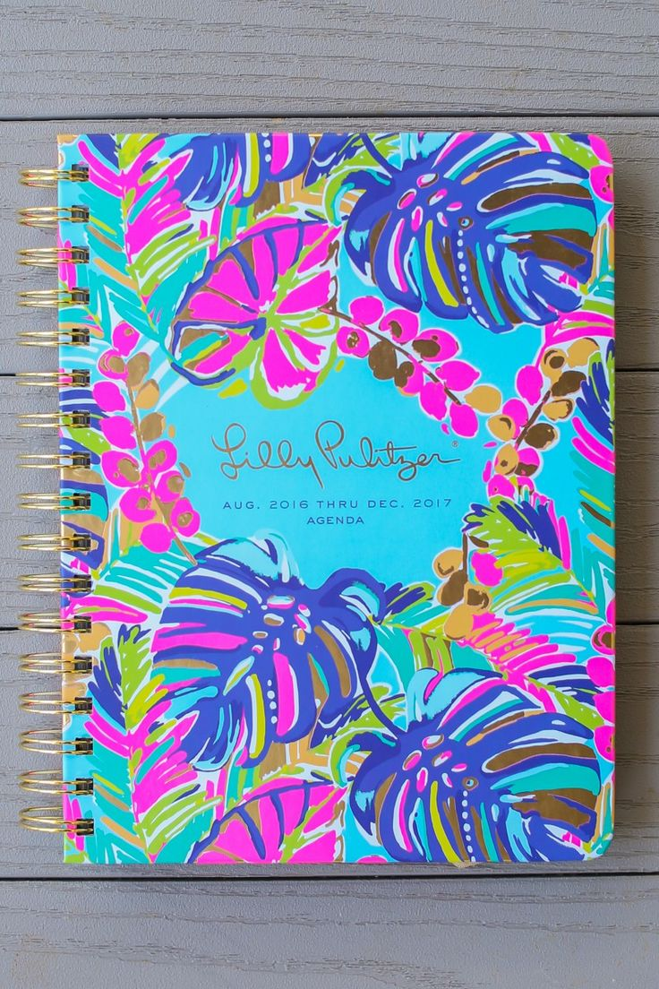 Lilly Pulitzer Exotic Garden 17 Month Large Agenda at reddressboutique.com