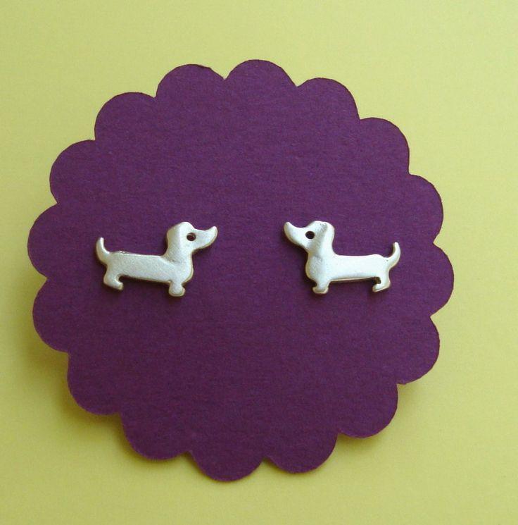 Dachshund Dog earrings sterling silver Jewelry Gift Girl Kids Women Teen weenie mom Valentine for her. 36.00, via Etsy.