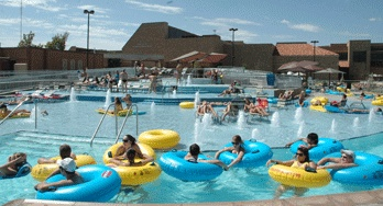 Lazy River at Rec Center. Reason #512 why she wants to go to tech, lol