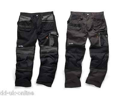 SCRUFFS WORK TROUSERS TWIN PACK WITH  KNEE PAD POCKETS  ( WORKER / TRADE / PRO)