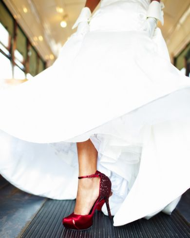 Deep Red Wedding Shoe