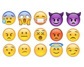 """Tatuajes temporales de Emoji - hoja 3 """"x 5"""""""
