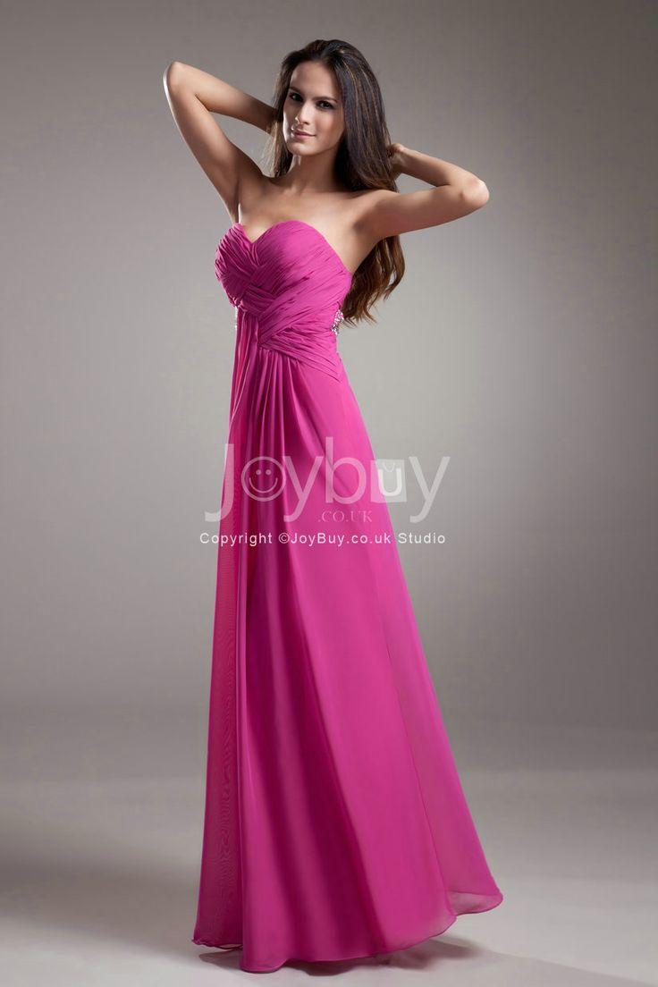 Best 25 fuschia bridesmaid dresses ideas on pinterest fuschia chiffon formal dresses fushia sweetheart floor length chiffon column fuschia long prom dress 2013 ombrellifo Images