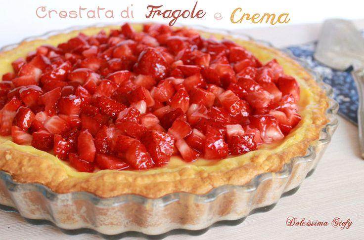 Crostata di Fragole e Crema