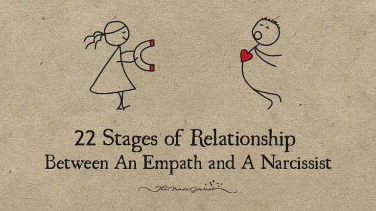 22 Stages of Relationship Between An Empath and A Narcissist - http://themindsjournal.com/stages-relationship-empath-narcissist/