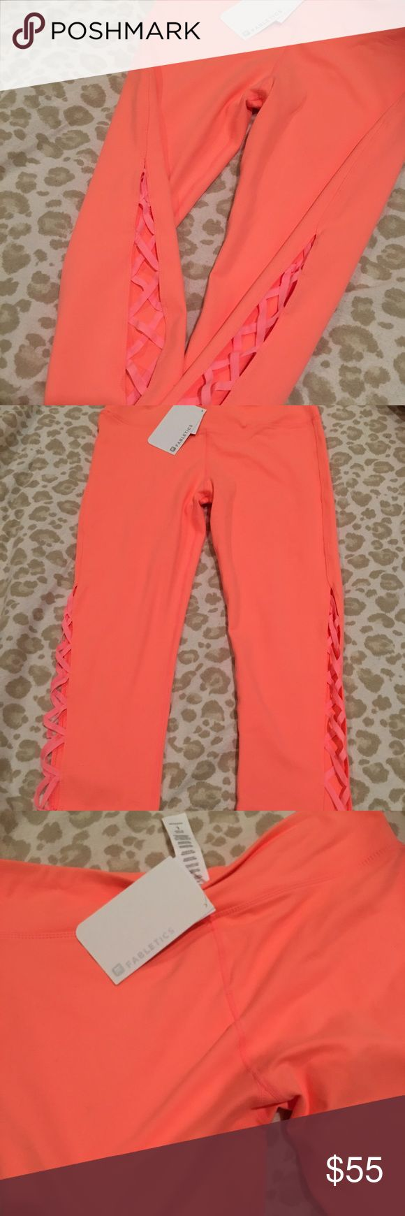 Fabletics Coral Capri Leggings These are so incredibly cute w the side leg detail!! They just don't fit me right. I only tried on twice. New w tags! Fabletics Pants Capris