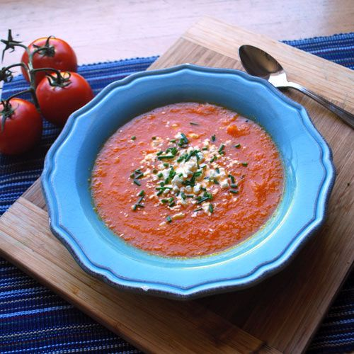 Roasted Summer Vegetable Chowder. Healthy and delicious!