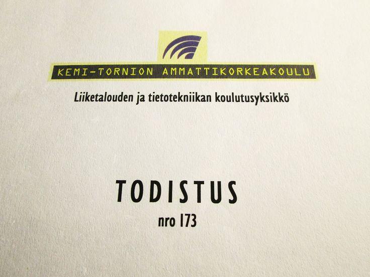 KOULUTUS: Tradenomi, tietojenkäsittelyn koulutusohjelma 5.1.1998 - 31.5.2002. Suuntautumisvaihtoehtona sovellusasiantuntija ja kouluttaja.