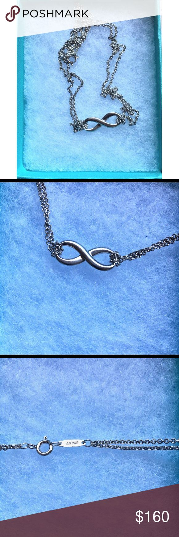 """💎TIFFANY INFINITY PENDANT💙 Tiffany & Co Infinity Pendant. 18"""" chain. Sterling silver. Tiffany & Co. Jewelry Necklaces"""