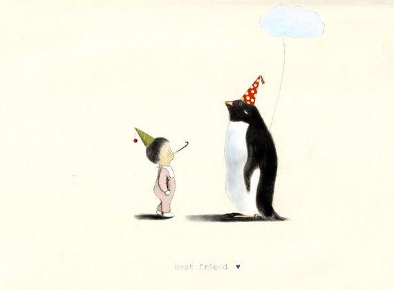 Besten Freund-Baby & Pinguin von LIMAstudio auf Etsy