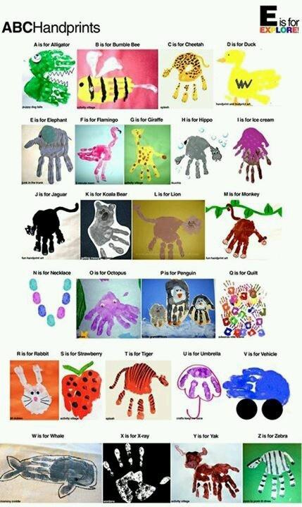 Hand Print animals!