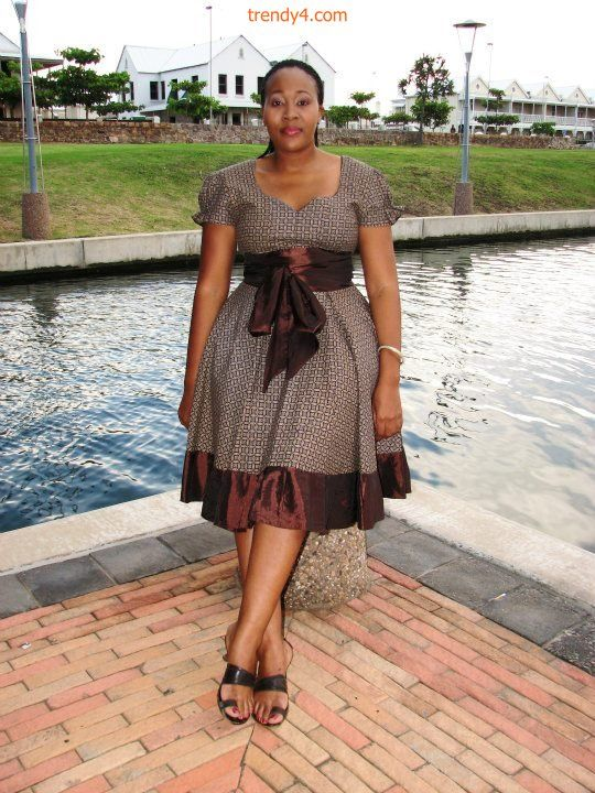 red shweshwe dresses - Google Search
