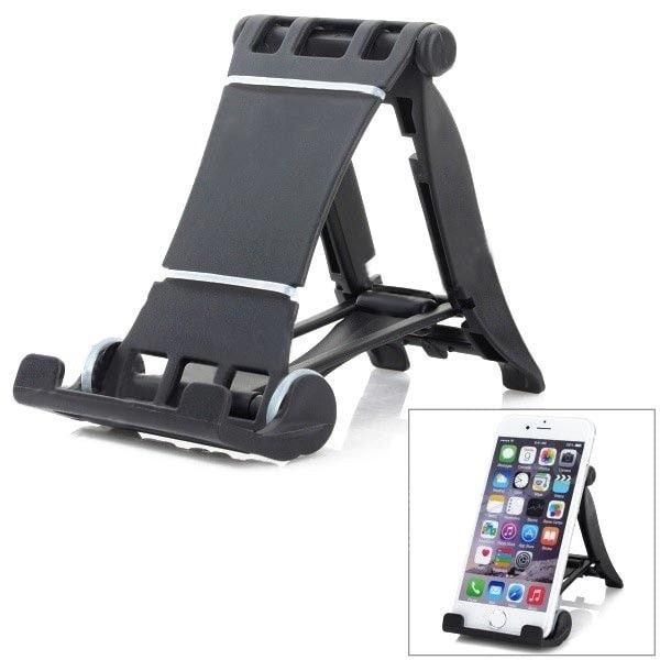 Universal 90 Rotation ABS Desktop Holder For iPhone iPad Cellphone. Universal 90 Rotation ABS Desktop Holder For iPhone iPad Cellphone         General    Brand  N/A    Model  N/A    Quantity  1Set    Material  ABS    Color  Black    Compatibility    Compatible Models  Cellphones and tablet PCs , IPHONE 5S , IPAD MINI (1ST GENERATION) , IPAD 4 , THE NEW IPAD(IPAD 3)…