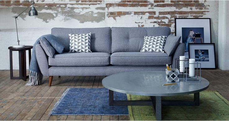 Zinc 4 Seater Sofa Zinc | DFS