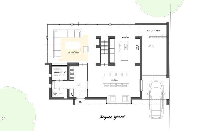 25 beste idee n over moderne woningplannen op pinterest moderne woningplannen huis - Idee huis uitbreiding ...