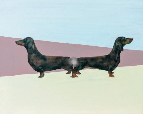 dachshounds,oil,canvas,100x80cm,2015