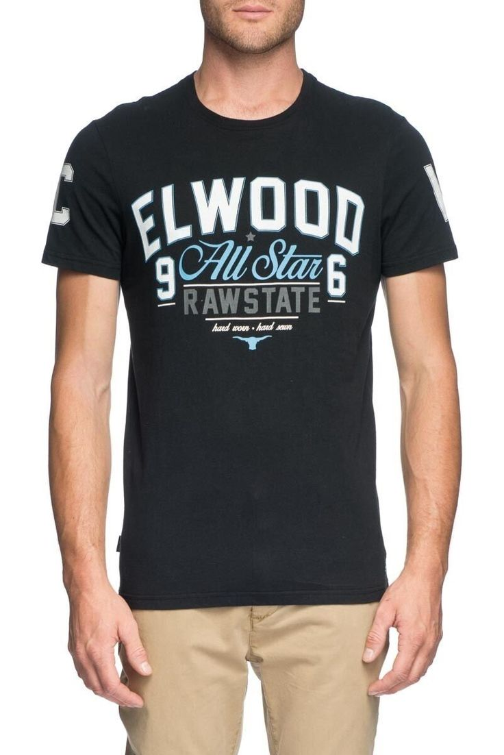 ELWOOD CLOTHING - All Star Tee Vintage Black