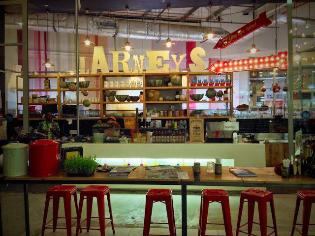 Larneys, a coffee shop in Gateway Theatre of shopping. #coffee #coffeeshop #decor