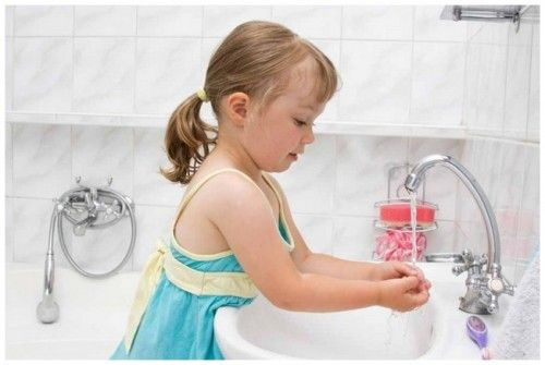 Basic Skills Children Wash Hand