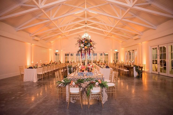 Autumn Colored Wedding in North Carolina- reception style and design