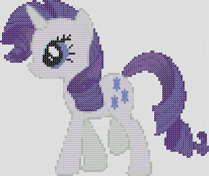 My Little Pony Inspired Pattern  Rarity by StitchedPixels on Etsy, $1.25