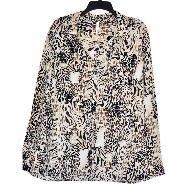 NY COLLECTION WOMEN'S BLOUSE PLUS SIZE 3X PRINT PAISLEY ¾ SLEEVE NWT #NYCollection #Blouse #AllOcassion
