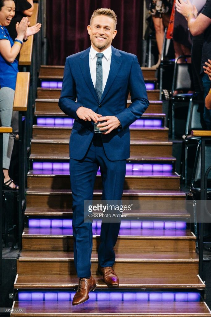 Charlie Hunnam greets the audience during 'The Late Late Show with James Corden,' Wednesday, April 5, 2017 (12:35 PM-1:37 AM ET/PT) On The CBS Television Network.