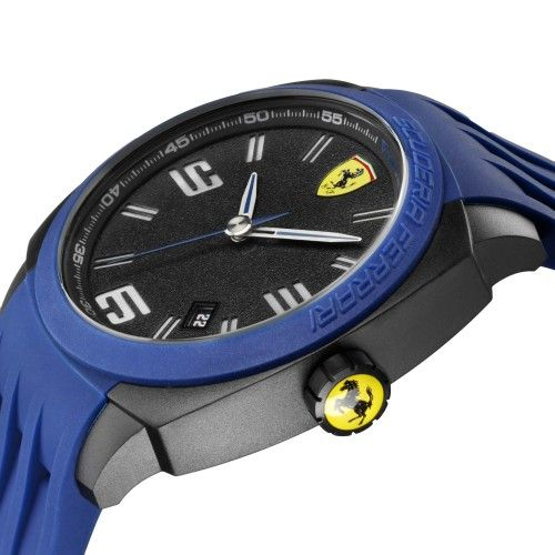 Scuderia Ferrari Aerodinamico Watch Blue NEW #ferrari #ferraristore #scuderiaferrari #watch #collection #new #aerodinamico #exclusive #style #prancinghorse #cavallinorampante #passion #carbon #alarm #data #timezone #waterproof #cronograph #alarm #detail #blue
