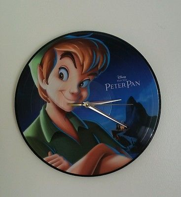 Disney Peter Pan Songs On Vinyl Wall Clock, Official Soundtrack.