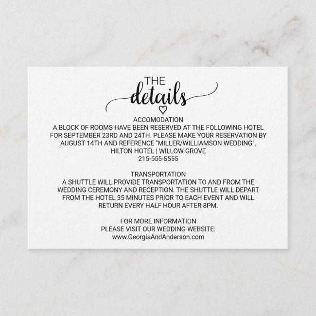 Create Your Own Enclosure Card Zazzle Com Wedding Details Card Wedding Details Calligraphy Detail
