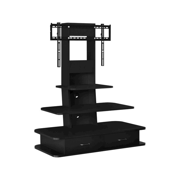 Galaxy 70 TV Stand with Mount and Drawers - Black - Altra