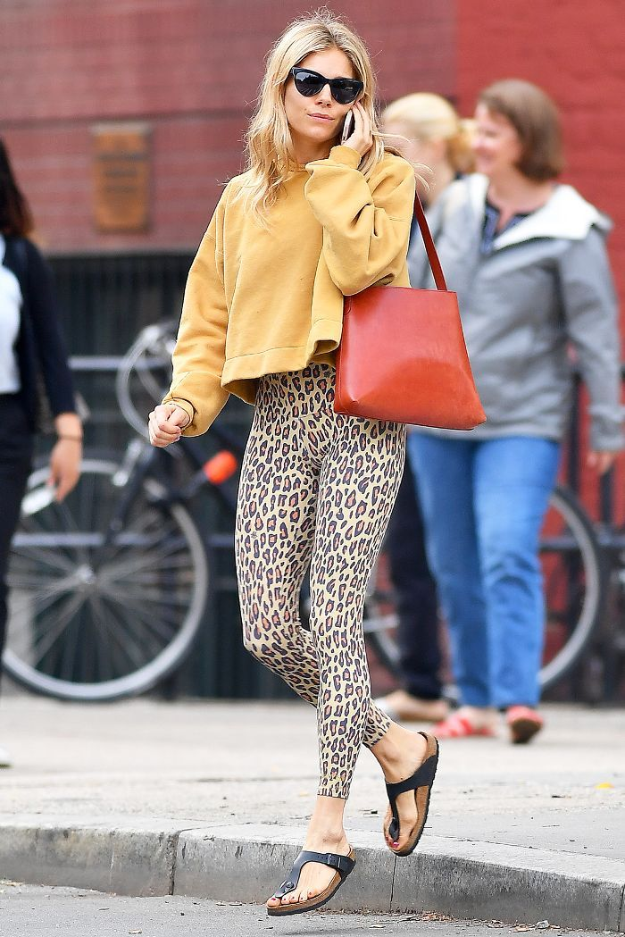 a45ccab8d30de I Can't Stop Thinking About This Controversial Legging-and-Birkenstock  Outfit via @WhoWhatWearUK