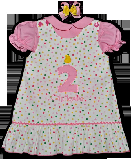 Perfect birthday outfit! Available in all numbers for any age! This and That For Kids - Applique Colorful Birthday Number Candle Dress, $30.00 (http://www.thisandthatforkids.com/applique-colorful-birthday-number-candle-dress/)