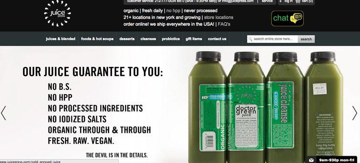 Juice Generation Visual Design Final Project Pinterest - fresh blueprint cleanse hpp