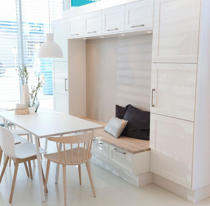 Kjøkkeninnredning kan brukes på så mange måter. Hos Norema kaller vi det Fullflex! #kjøkken #sittebenk #oppbevaring #spiseplass #norema #formathvit #aftenbladet