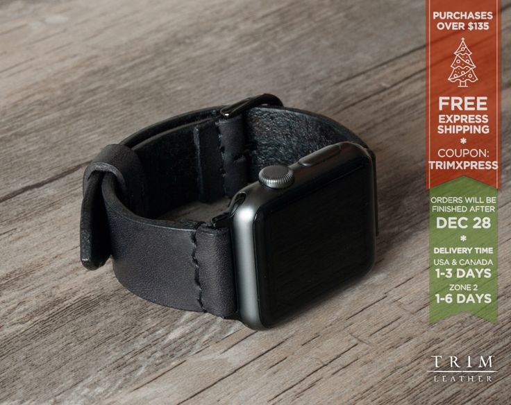 Apple Watch Band Leather Watch Bands Minimal in Black 42mm 38mm Series 1 and 2 [Handmade] [Custom Colors] by TRIMleather on Etsy https://www.etsy.com/listing/458903192/apple-watch-band-leather-watch-bands