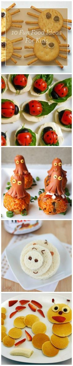 Fun how-to recipe ideas on how to make cute food art for your kids!