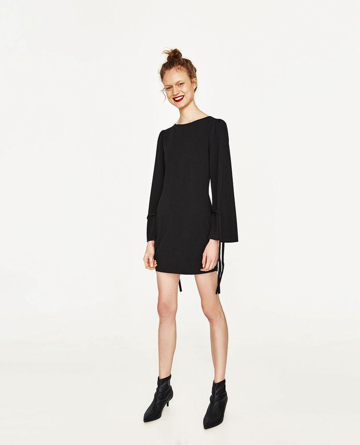 zara woman kurzes schwarzes kleid kleider kleider fuer frauen