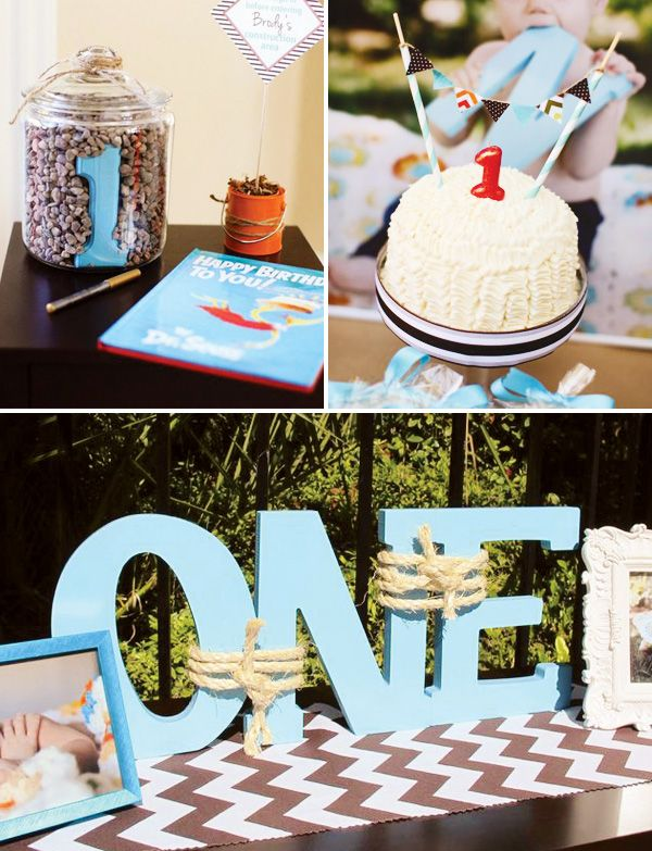 first-birthday-party - ONE, could work for a nautical theme too