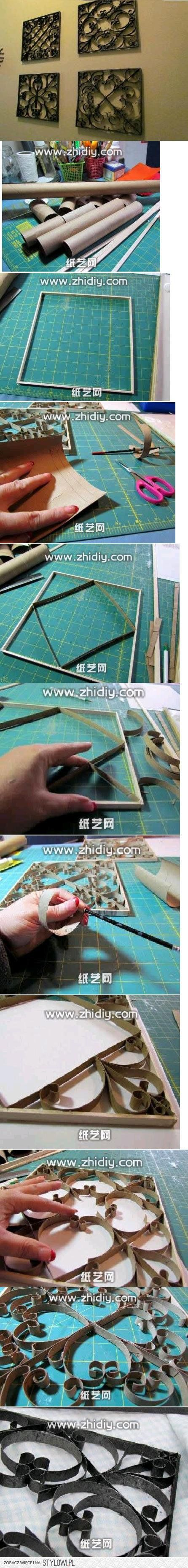 DIY Toilet Paper Roll Decorative Frame DIY Projects | U…