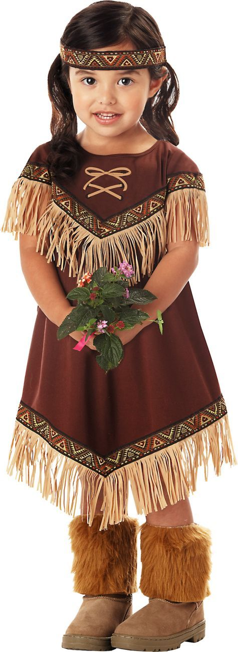 Toddler Girls Lil' Princess Native American Costume - Party City