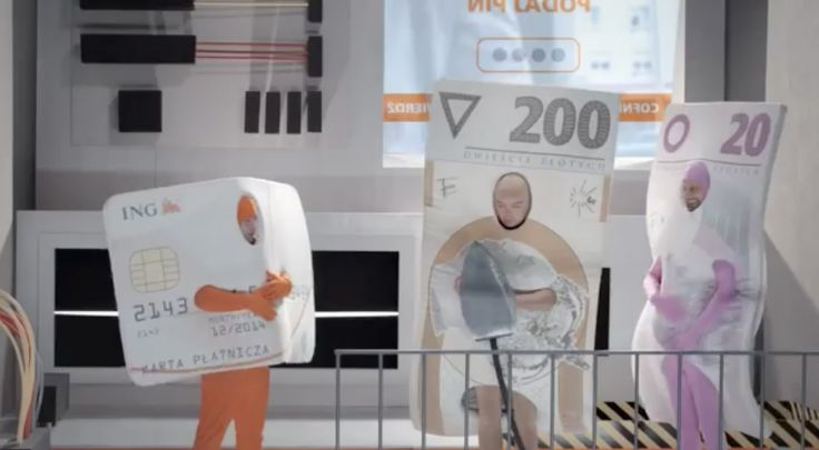 costumes for ING Bank Śląski advertising